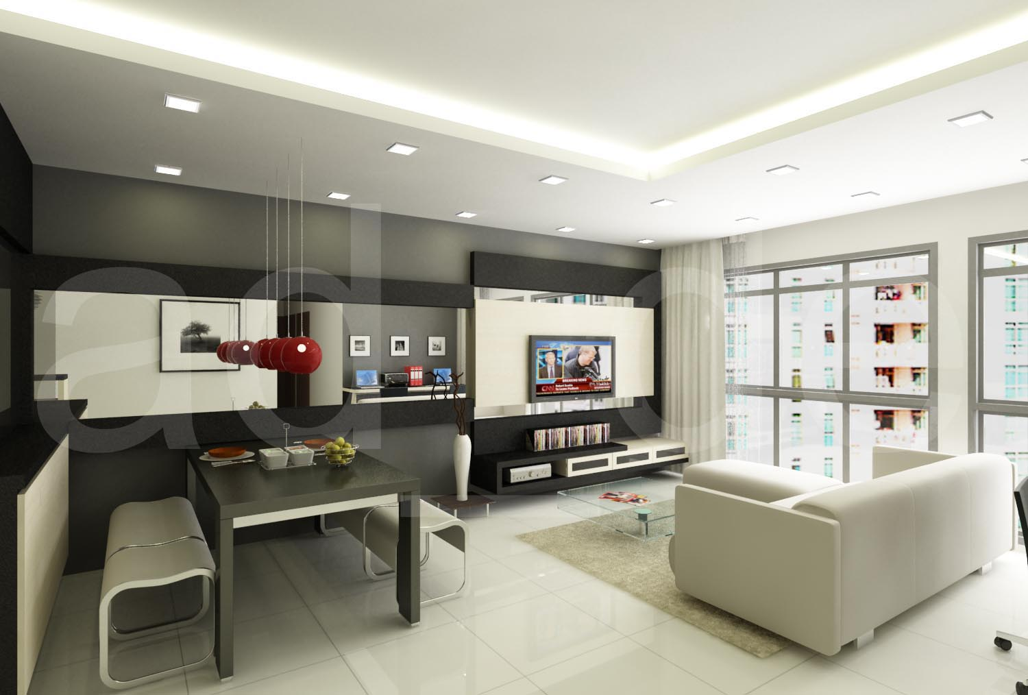 Interior Designer Adrian Lau: HDB And Condo Living Room 3D Designs