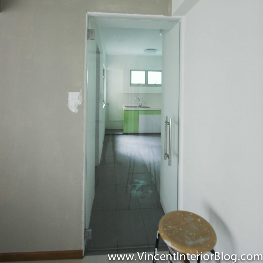Punggol 4 room hdb renovation part 8 day 32 final for Kitchen door with window