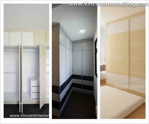 bedroom wall wardrobe design