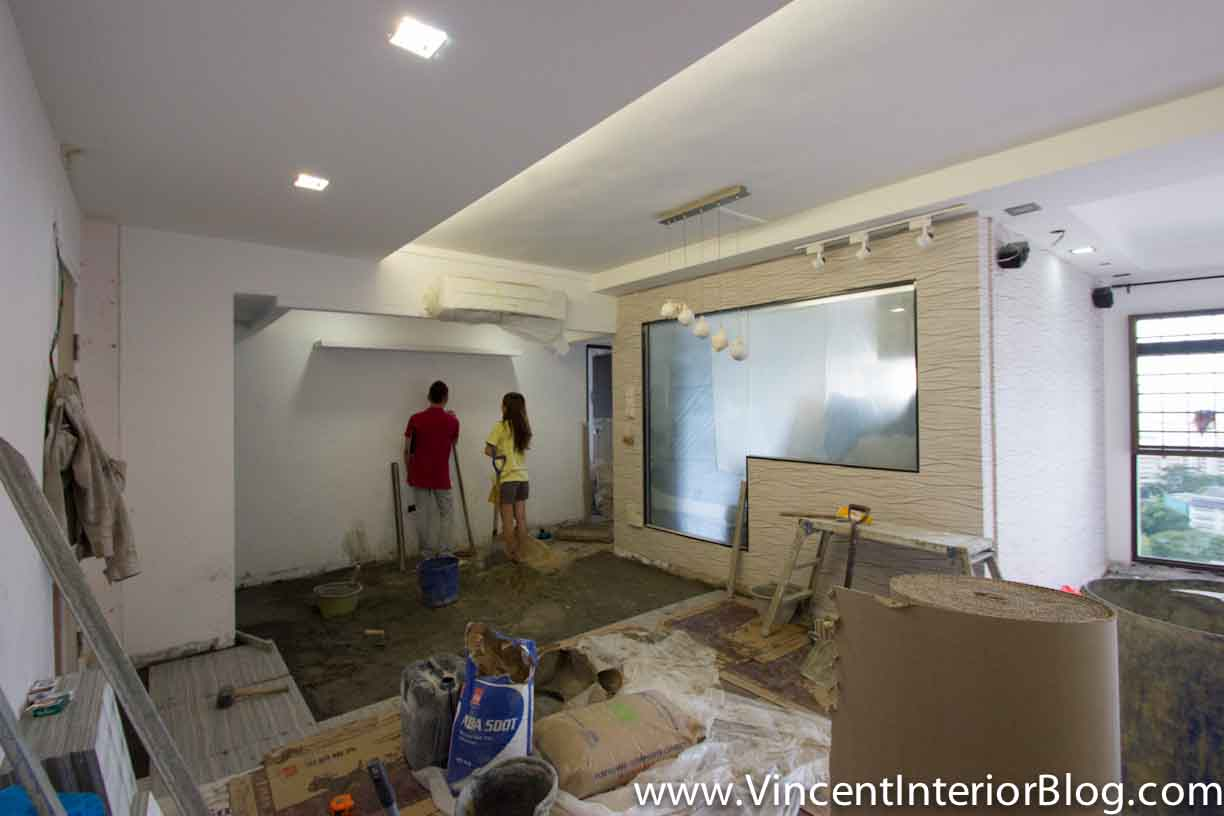 5 room hdb at jalan tenteram part 5 tiling dining area 6 for Interior design for 5 room hdb flat