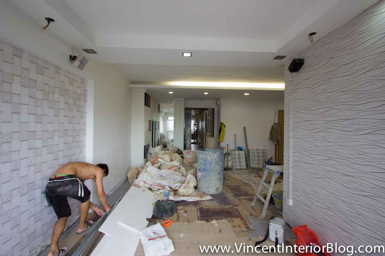 5 Room HDB At Jalan Tenteram Part Tiling Living 4