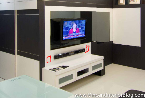 Electricial Work TV console 1