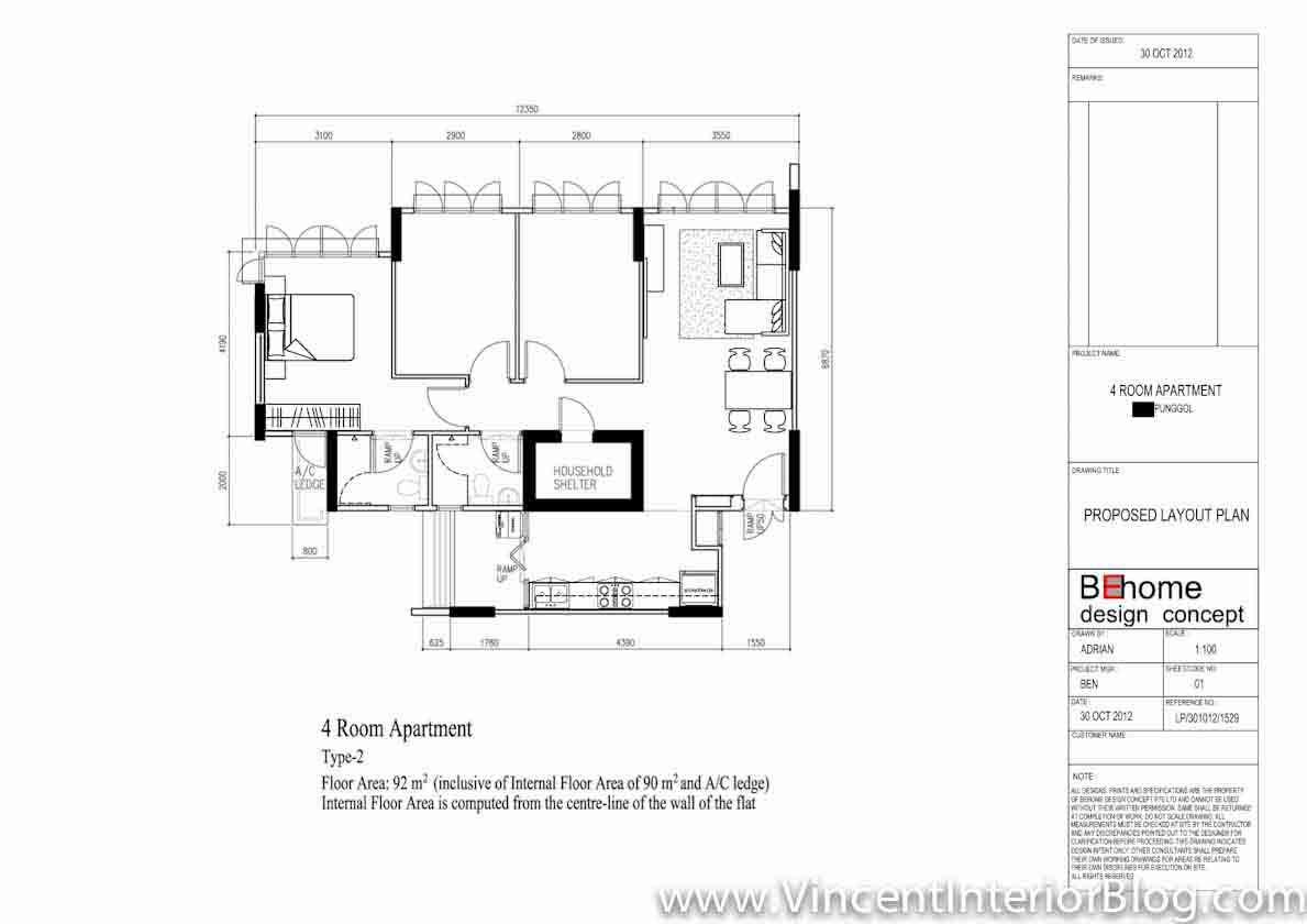 4 Room Flat Floor Plan on home one bedroom floor plans