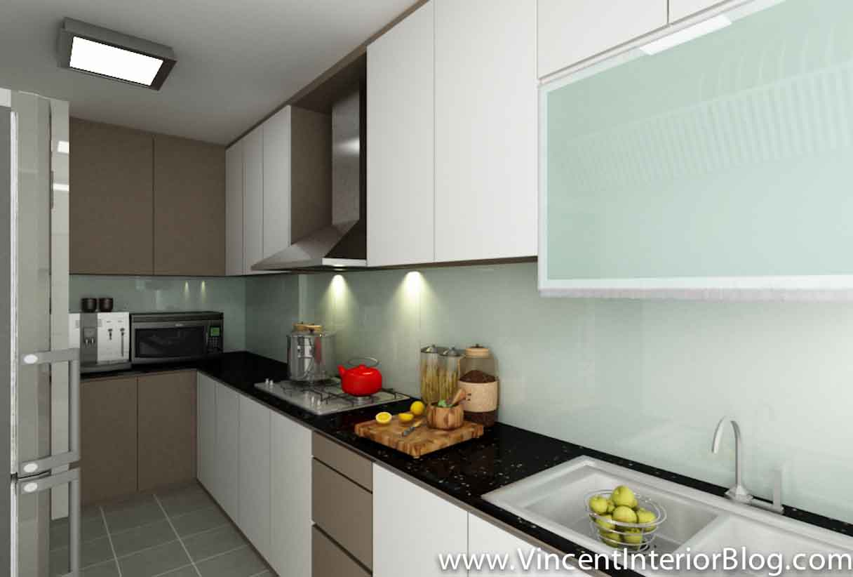 With  Punggol BTO 4 Room HDB renovation by Interior Designer Ben Ng  . Hdb 4 Room Kitchen Design. Home Design Ideas