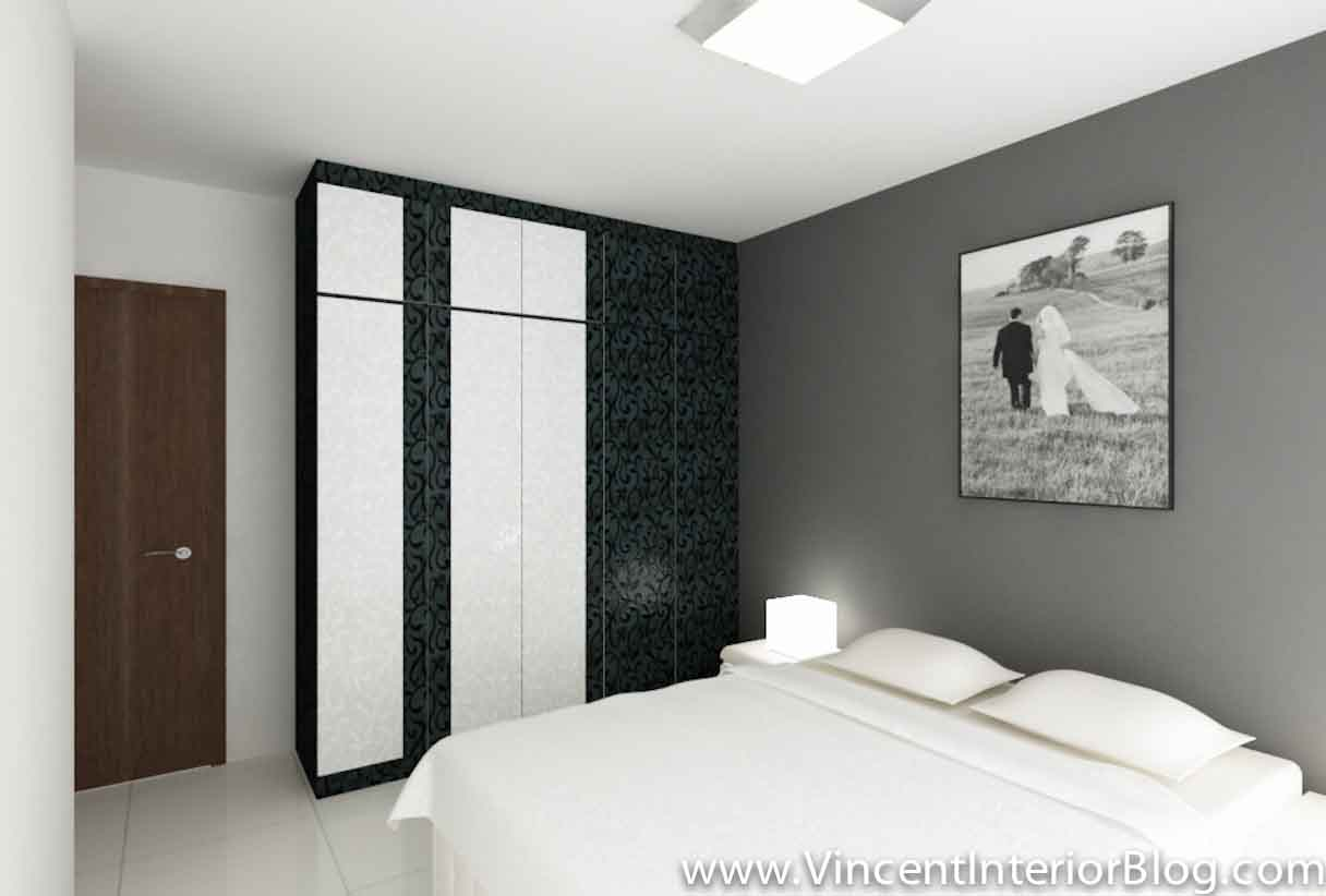 Punggol 4 room hdb 207 master bedroom vincent interior for Bedroom ideas hdb