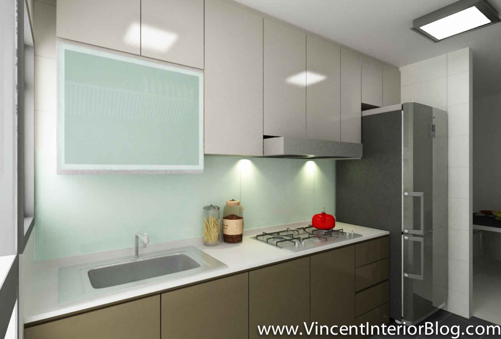 Kitchen design for hdb flat home design intended for for Small flat kitchen design