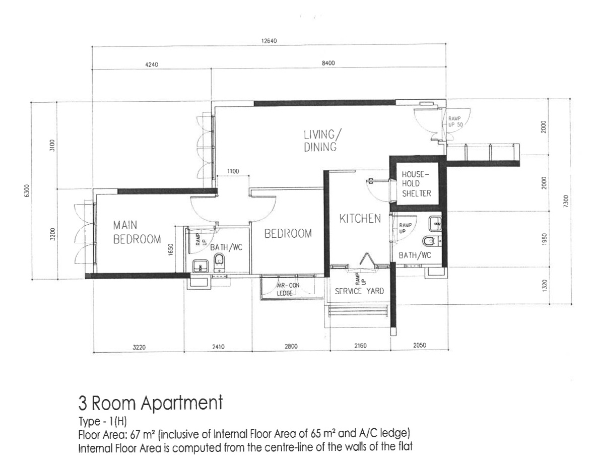 3 room sengkang floorplan vincent interior blog for 3 room flat floor plan