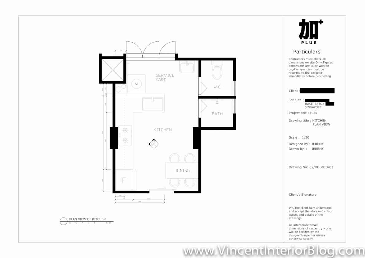 3 Room HDB Bukit Batok PLUS Interior Design Proposed Floor Plan 9