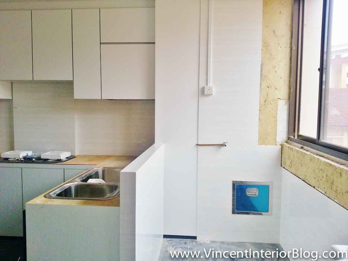 Resale 3 room hdb renovation kitchen toilet by plus interior design part 3 carpentry Kitchen door design hdb