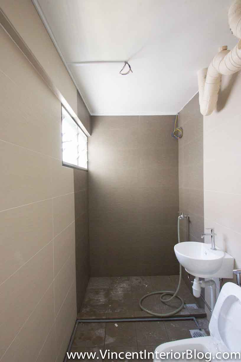 Yishun 5 room hdb renovation by interior designer ben ng for Toilet design
