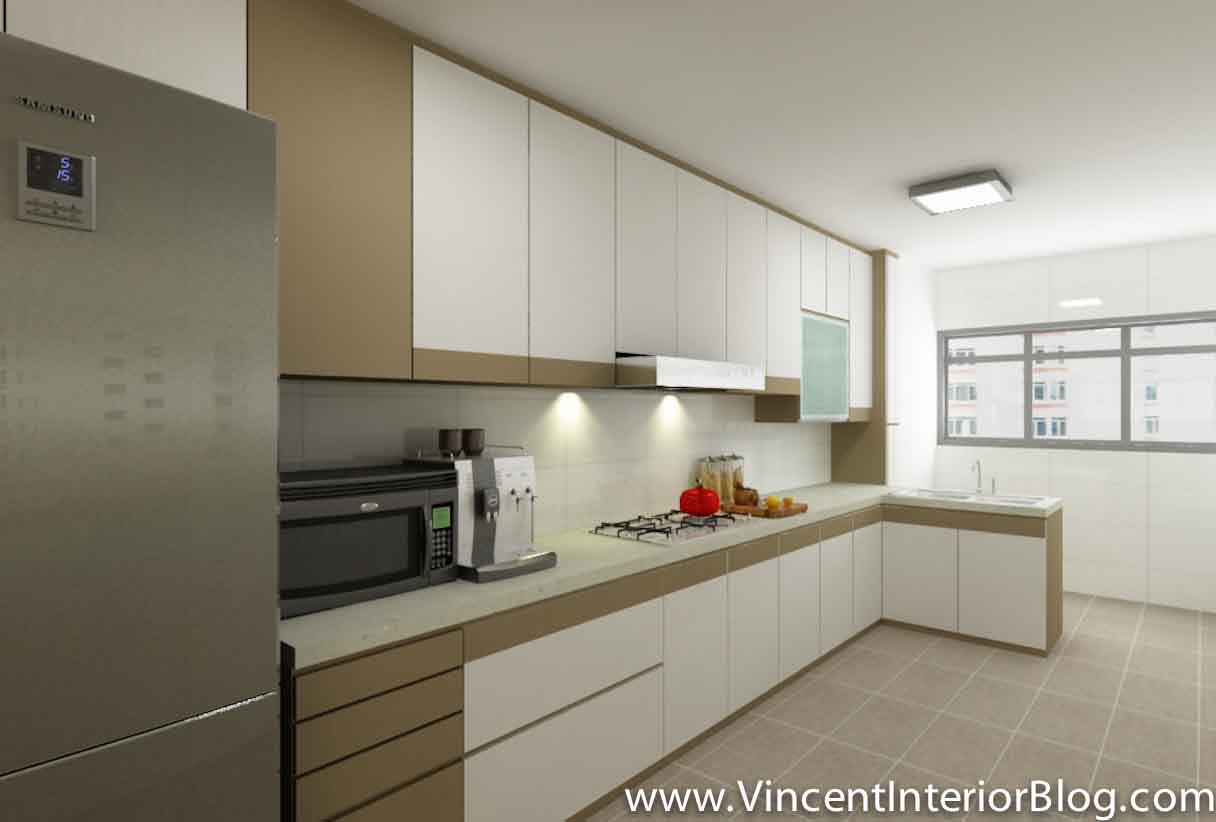 Yishun 5 room hdb renovation by interior designer ben ng part 4 quotation perspectives Kitchen design in hdb
