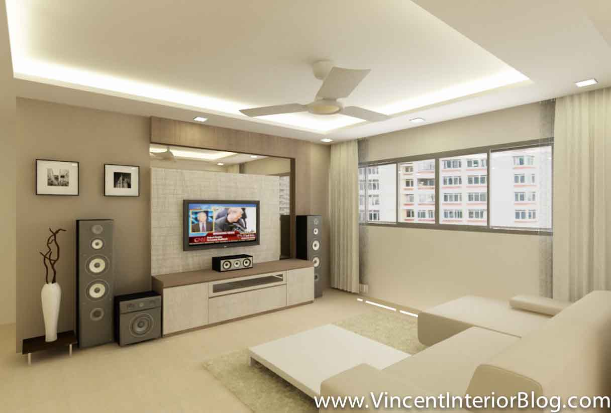Yishun 5 room hdb renovation by interior designer ben ng for Family room renovations