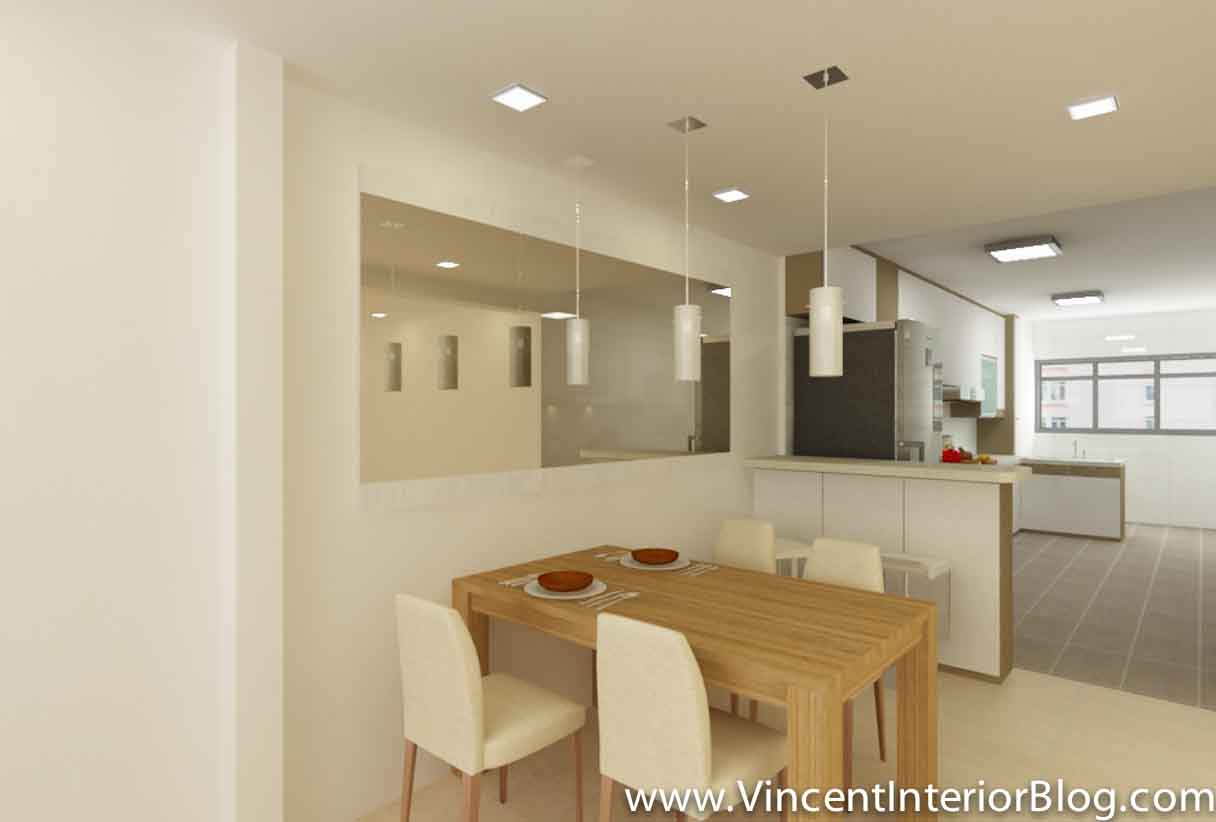 24 simple singapore hdb 3 room interior design for Dining room renovation