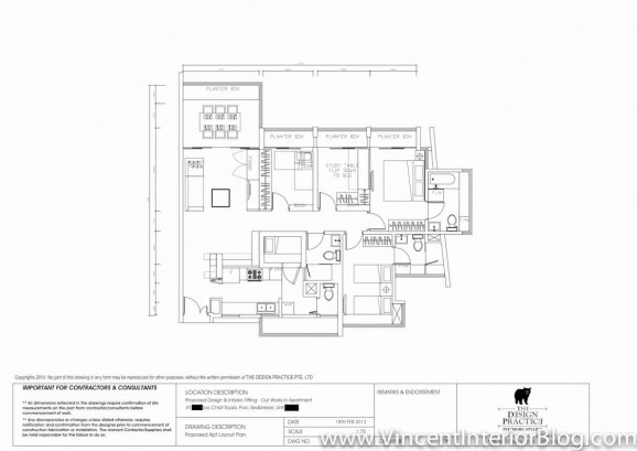 Singapore Condominium renovation the design practice FURNITURE LAYOUT
