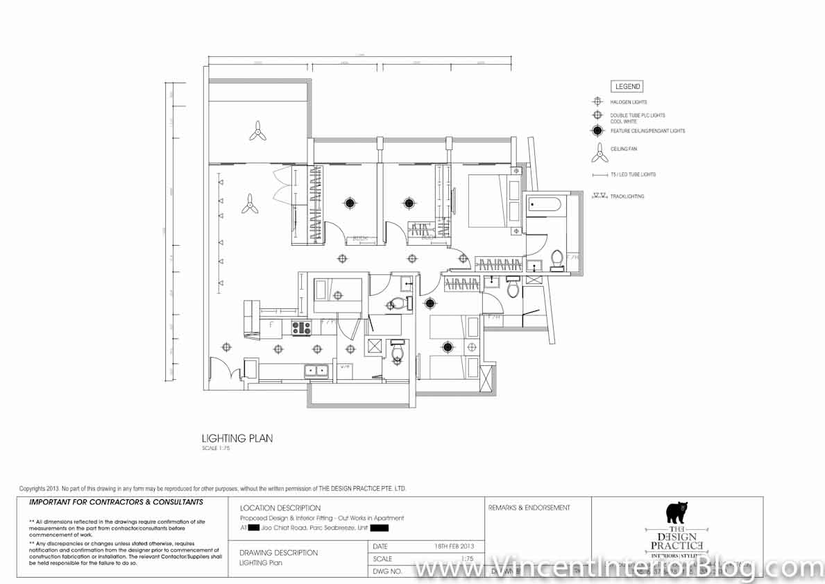 Singapore Condominium Parc Seabreeze Renovation By Raymond Kua Quotation Floor Plan Detailed Drawings on Spa Salon Interior Design