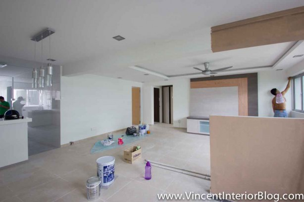 Yishun 5 room HDB renovation BEhome Design concept - Living Room 2