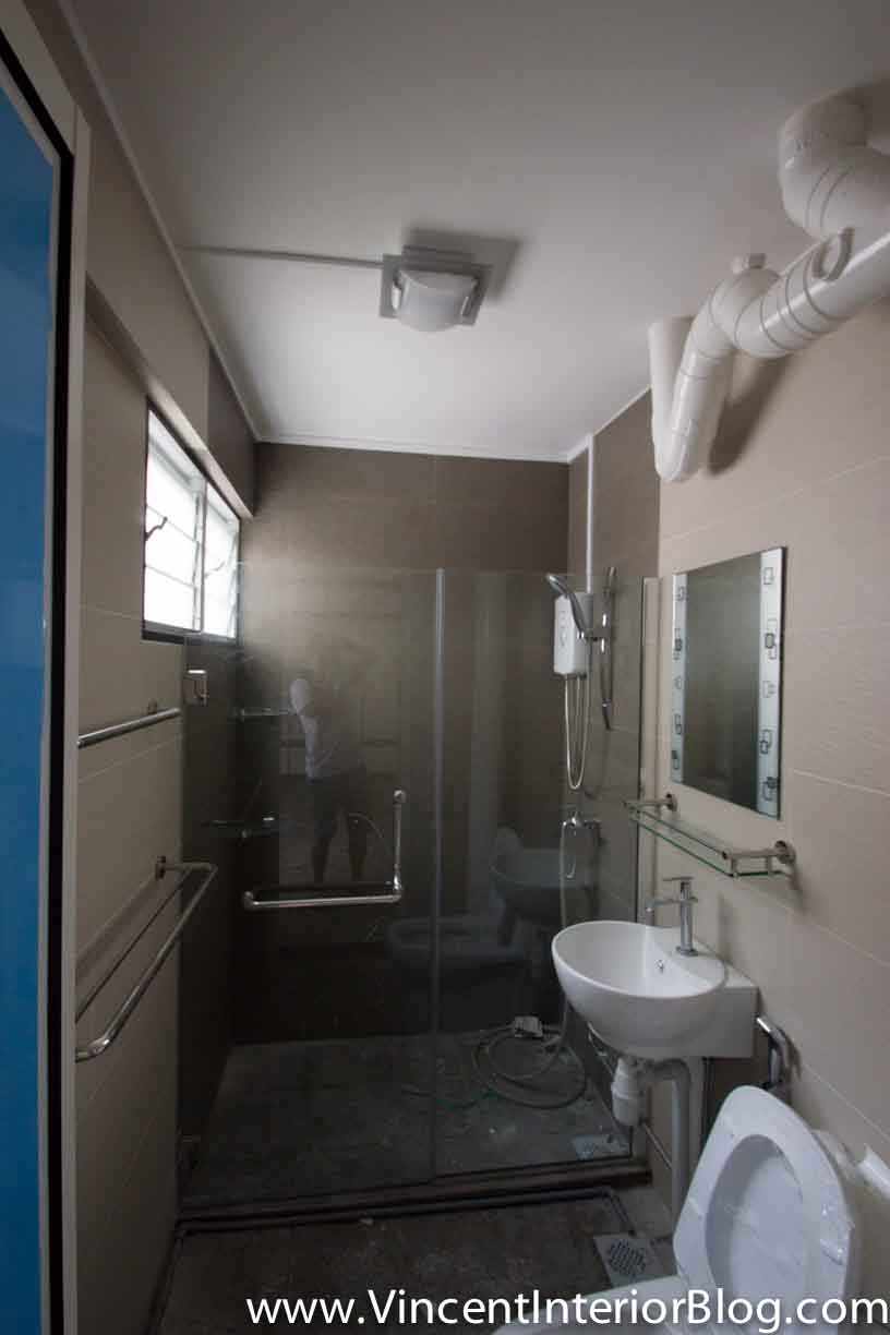 Yishun 5 room hdb renovation by interior designer ben ng for Toilet room in master bath