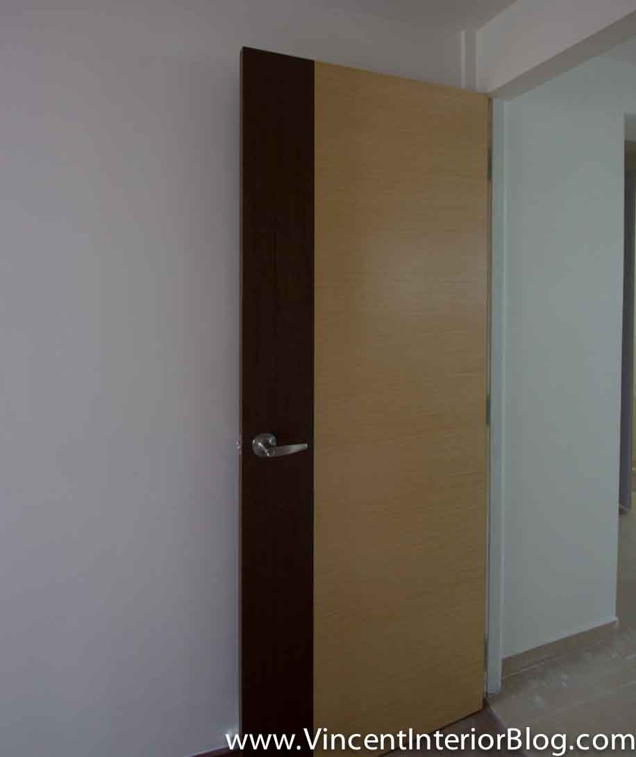 Yishun 5 room hdb renovation by interior designer ben ng part 5 final stage vincent Kitchen door design hdb