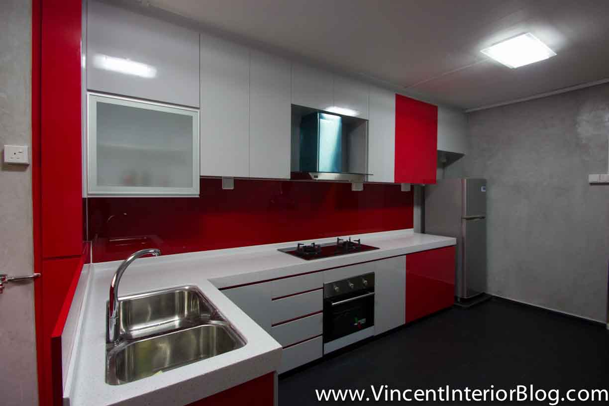 Resale 4 room hdb renovation kitchen toilet by behome design Kitchen door design hdb