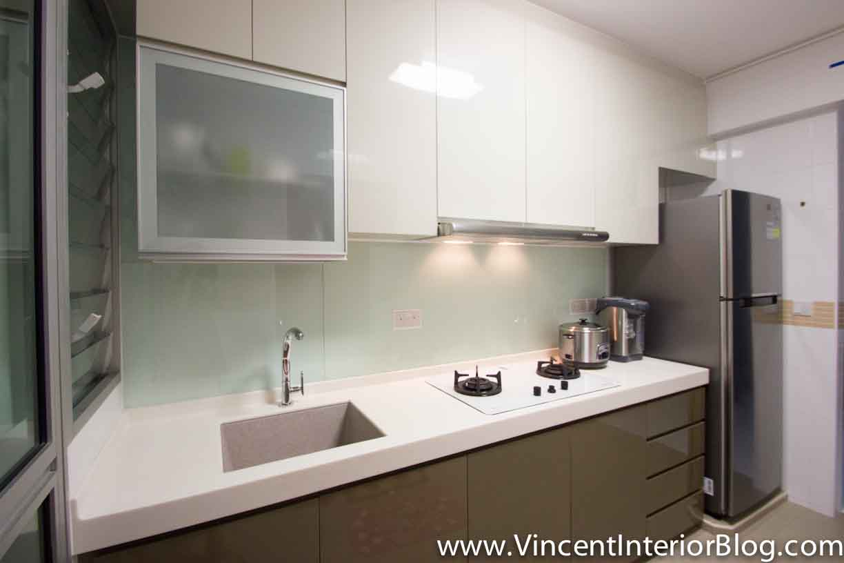 BEhome Design Concept SengKang 3 room HDB  Kitchen 1. BTO 3 Room HDB renovation by Interior Designer Ben Ng   Part 5