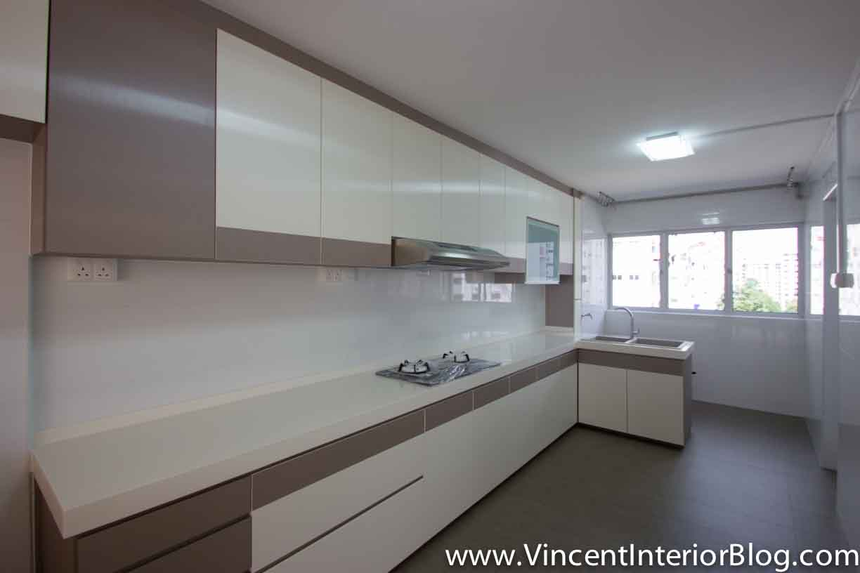 L Shape Kitchen Design Yishun 5 Room Hdb Renovation By Interior Designer Ben Ng