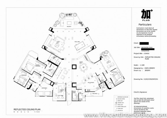 Bayshore Park Condominium Renovation PLUS interior Design-Ceiling Plan