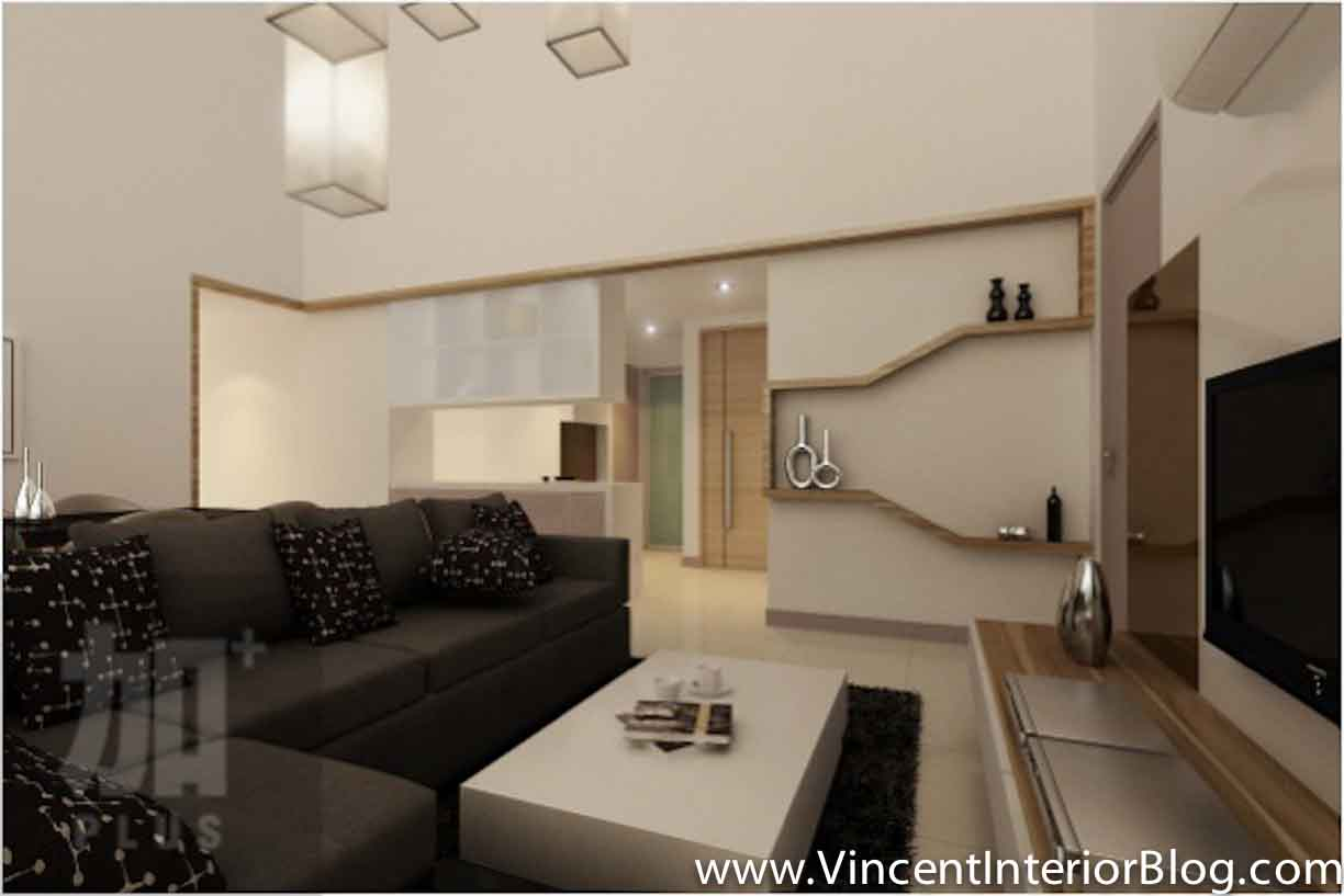 Singapore interior design ideas beautiful living rooms vincent interior blog vincent for Designs of living room walls