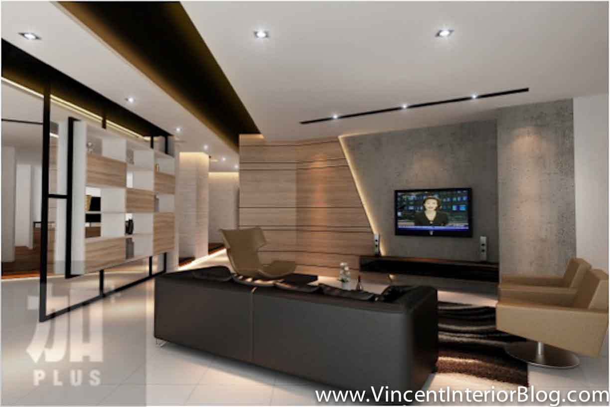 Singapore interior design ideas beautiful living rooms for Modern living room tv ideas
