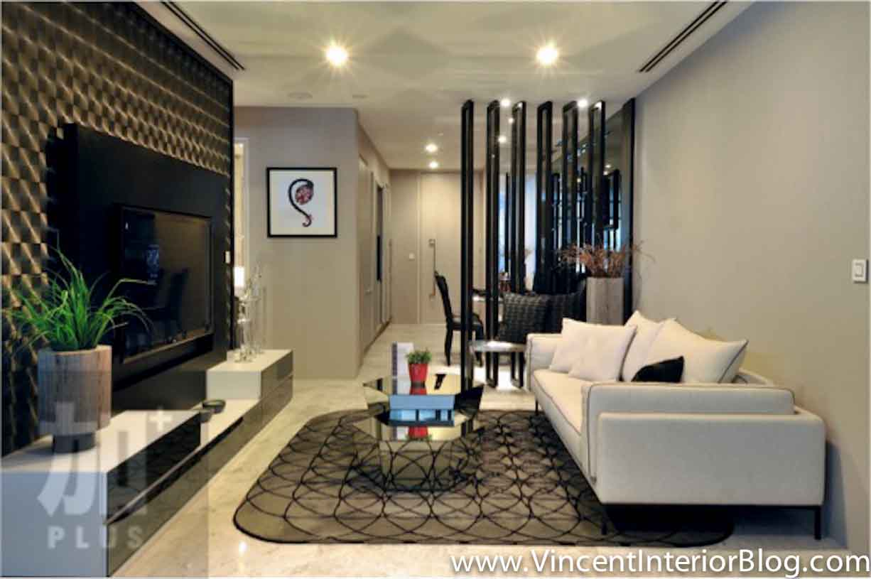 Singapore interior design ideas beautiful living rooms for Small condo decor