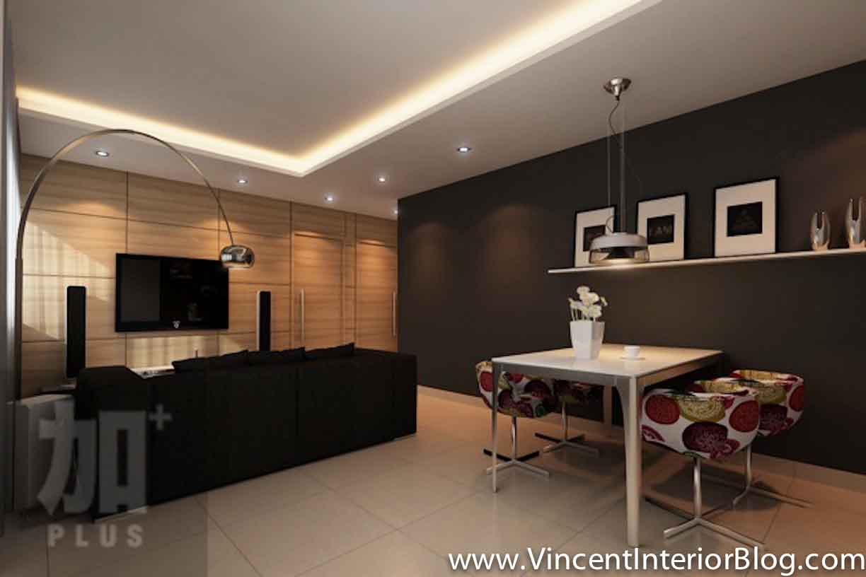 Interior design ideas singapore for Feature wall interior design