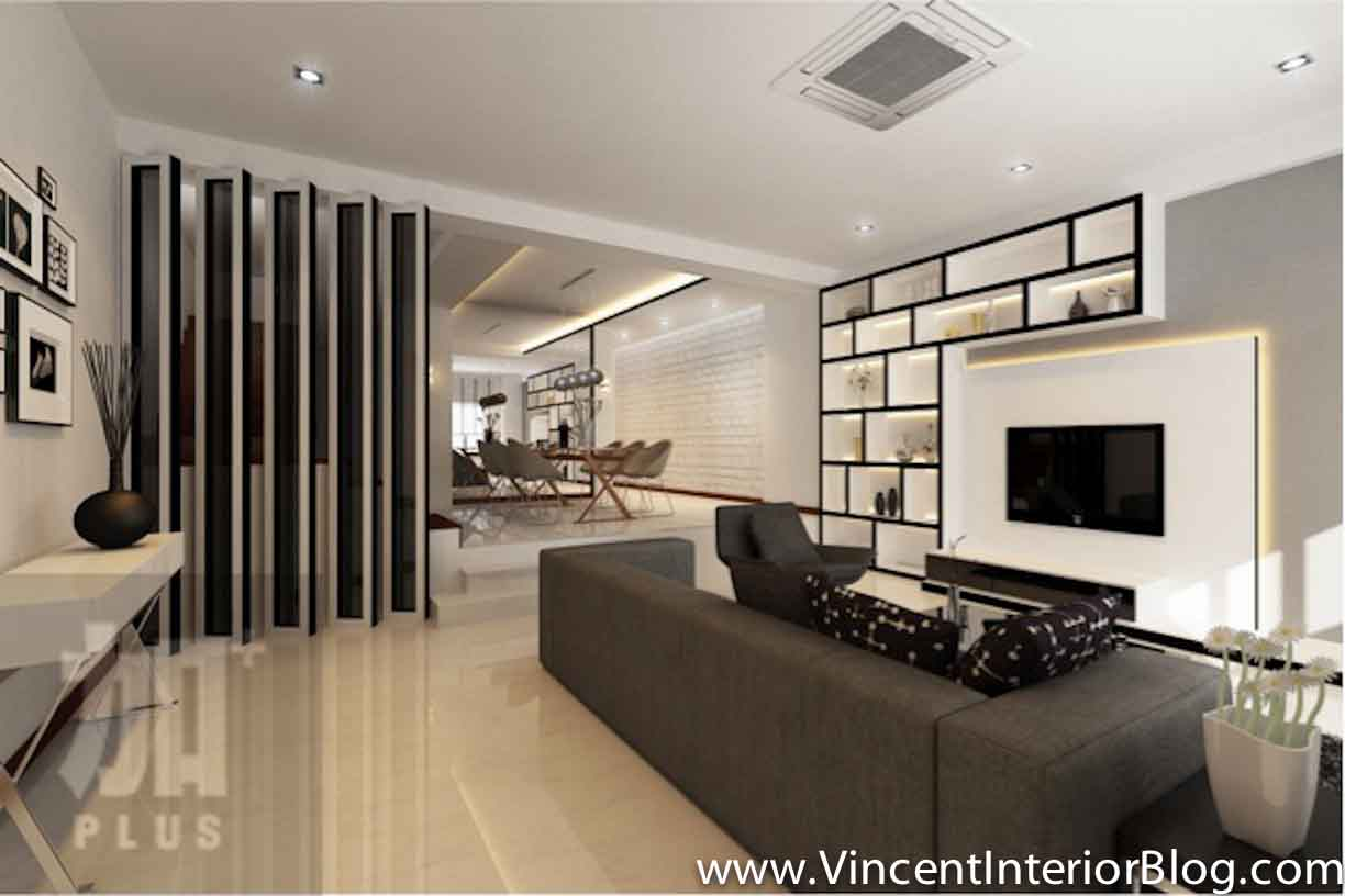 Interior design feature walls living room style for Living room tv designs modern