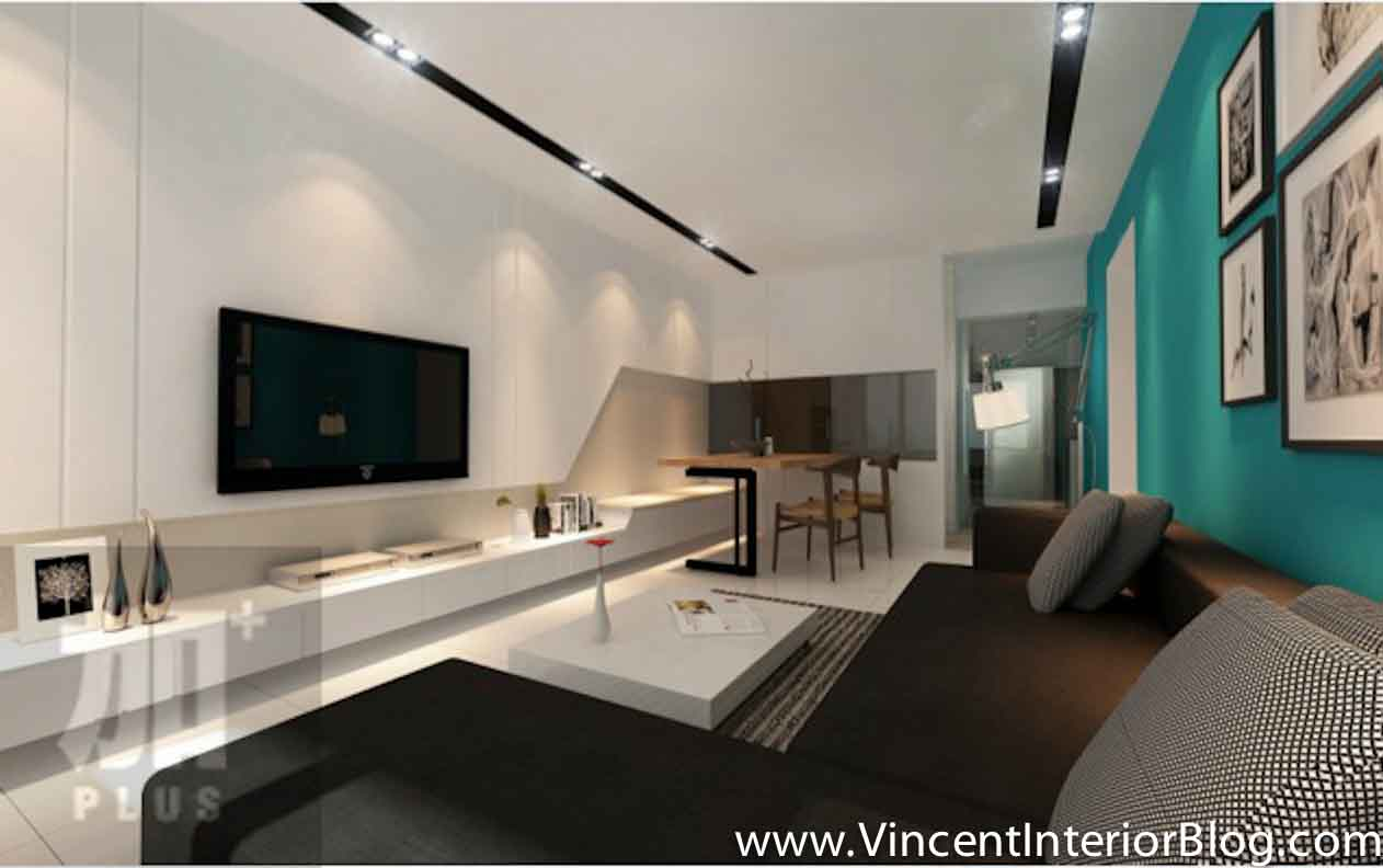 Singapore interior design ideas beautiful living rooms vincent interior blog vincent Small living room designs with tv