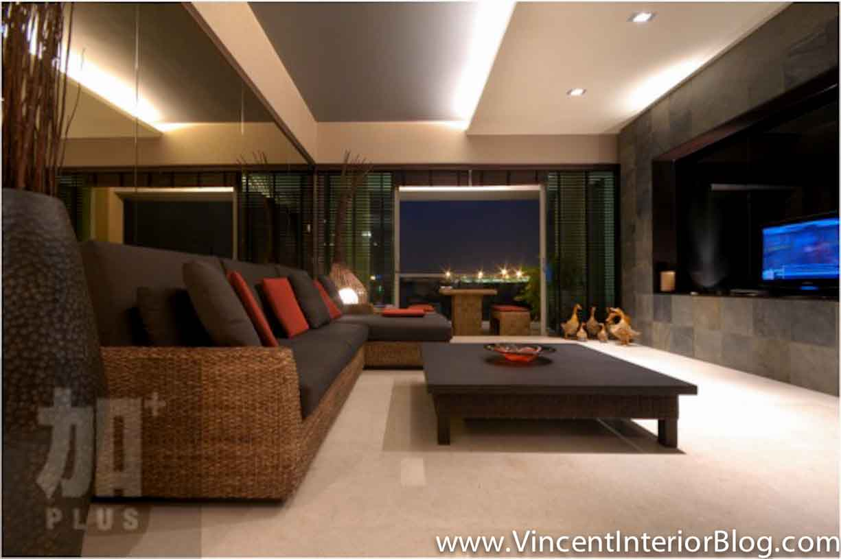 Singapore interior design ideas beautiful living rooms Architect modern zen type house
