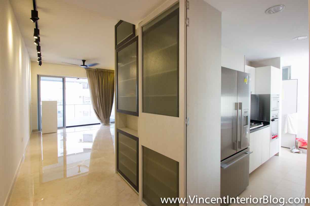 Singapore condominium parc seabreeze renovation by raymond kua project completed vincent Kitchen door design hdb
