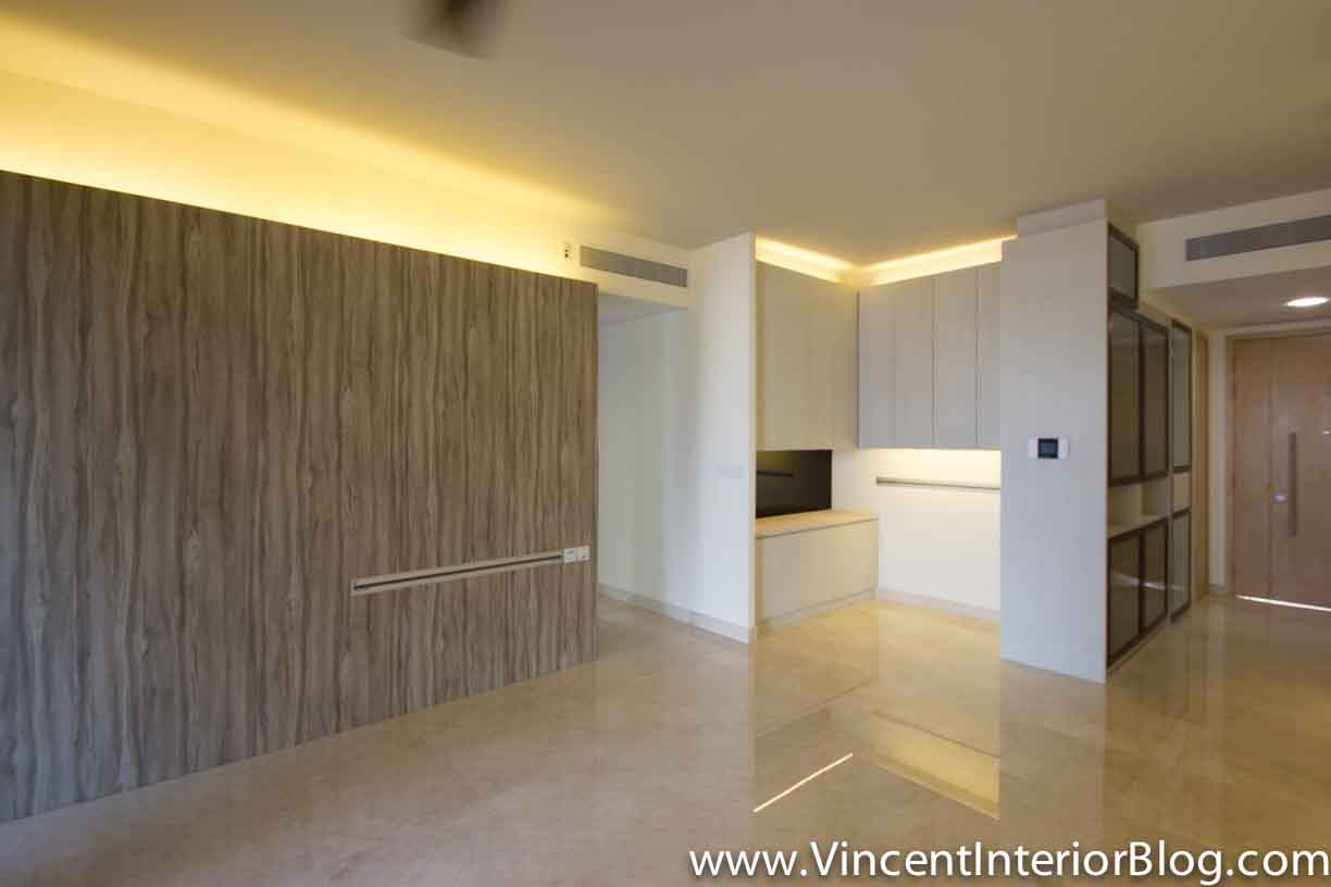 Singapore condominium parc seabreeze renovation by raymond for Living room 4 doors