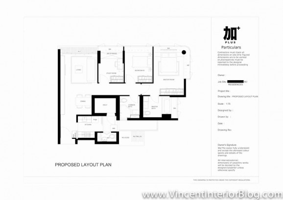 Renovation NV Residence Pasir Ris Grove PLUS interior design-Floor Plan 3