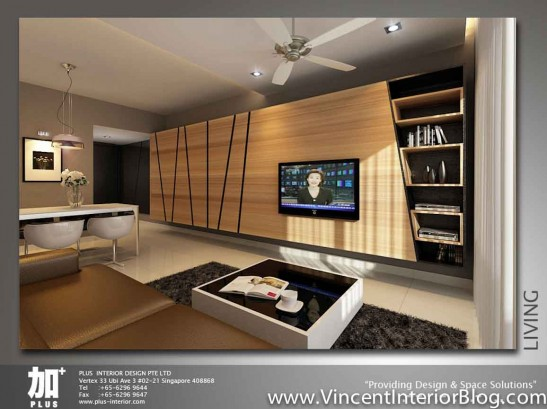 Renovation NV Residence Pasir Ris Grove PLUS interior design-Living Room Perspective