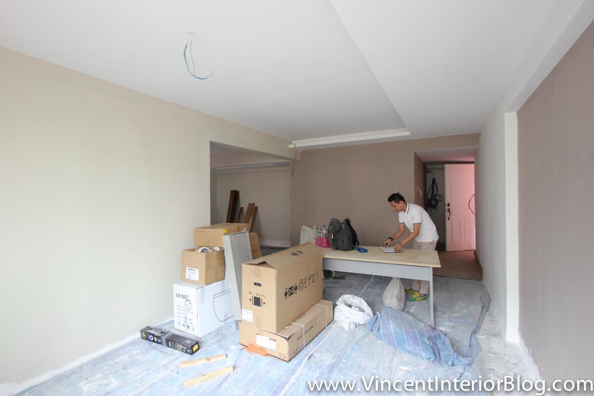 Sims drive 5 room hdb point block renovation project by for Living room 3