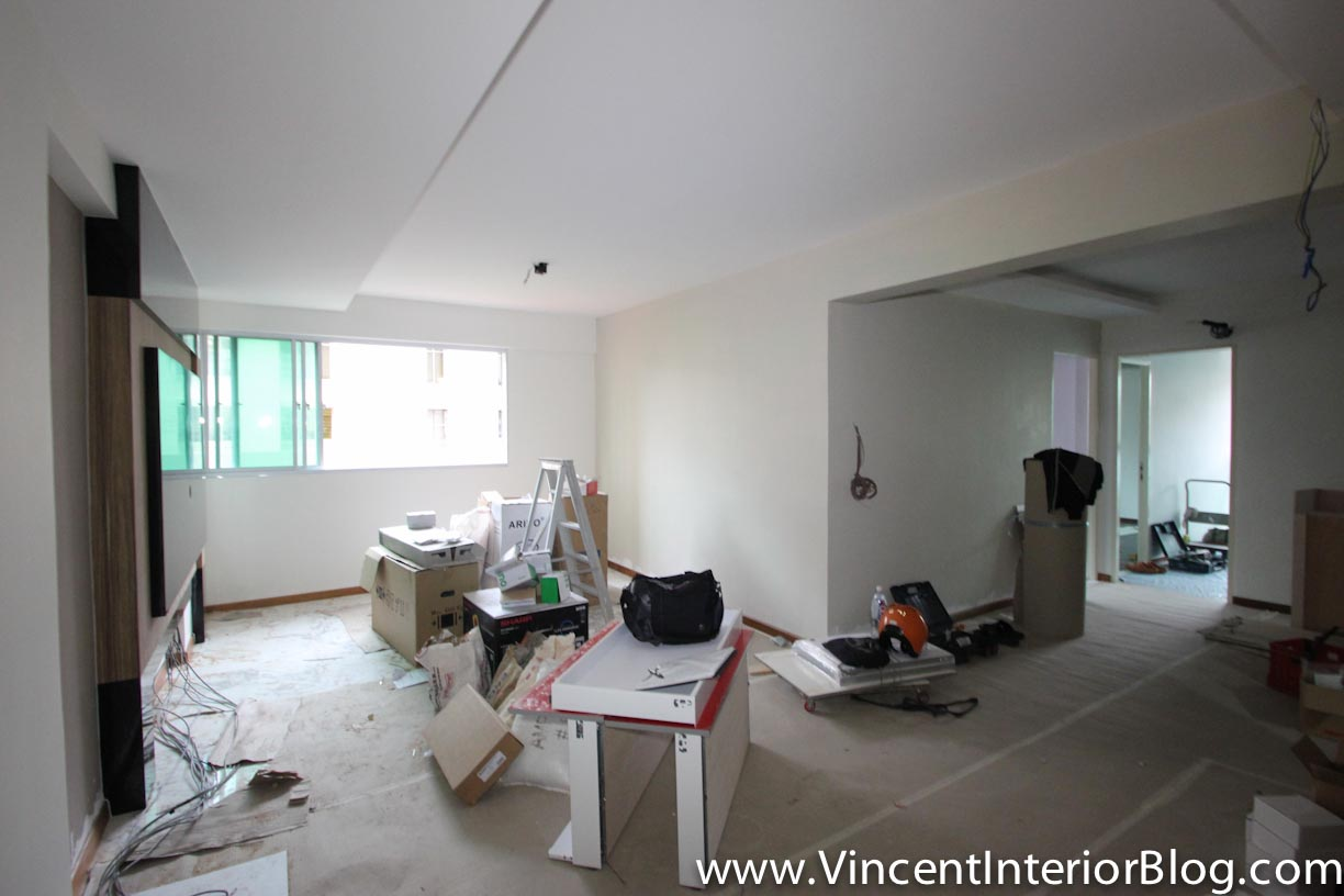 Sims drive 5 room hdb point block renovation project by for Living room ideas hdb