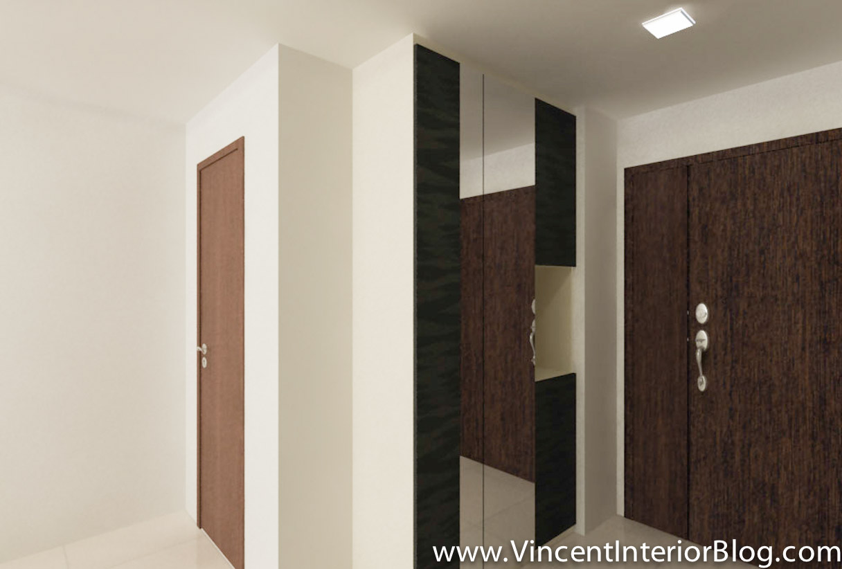 Foyer Design Hdb : Woodland room hdb renovation by behome design concept