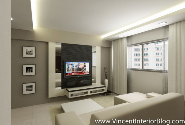 BEhome Design concept 4 room HDB-Living room