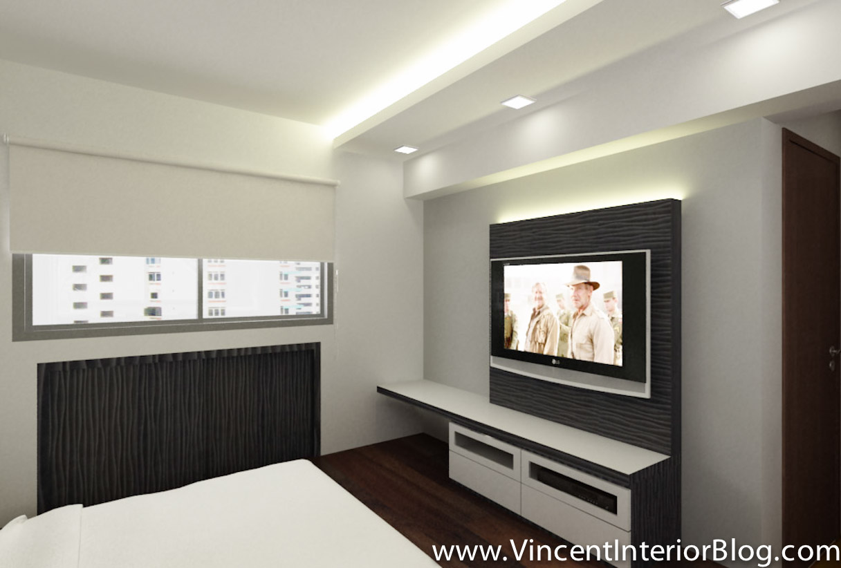BEhome Design Concept 4 Room HDB MBR Tv Area