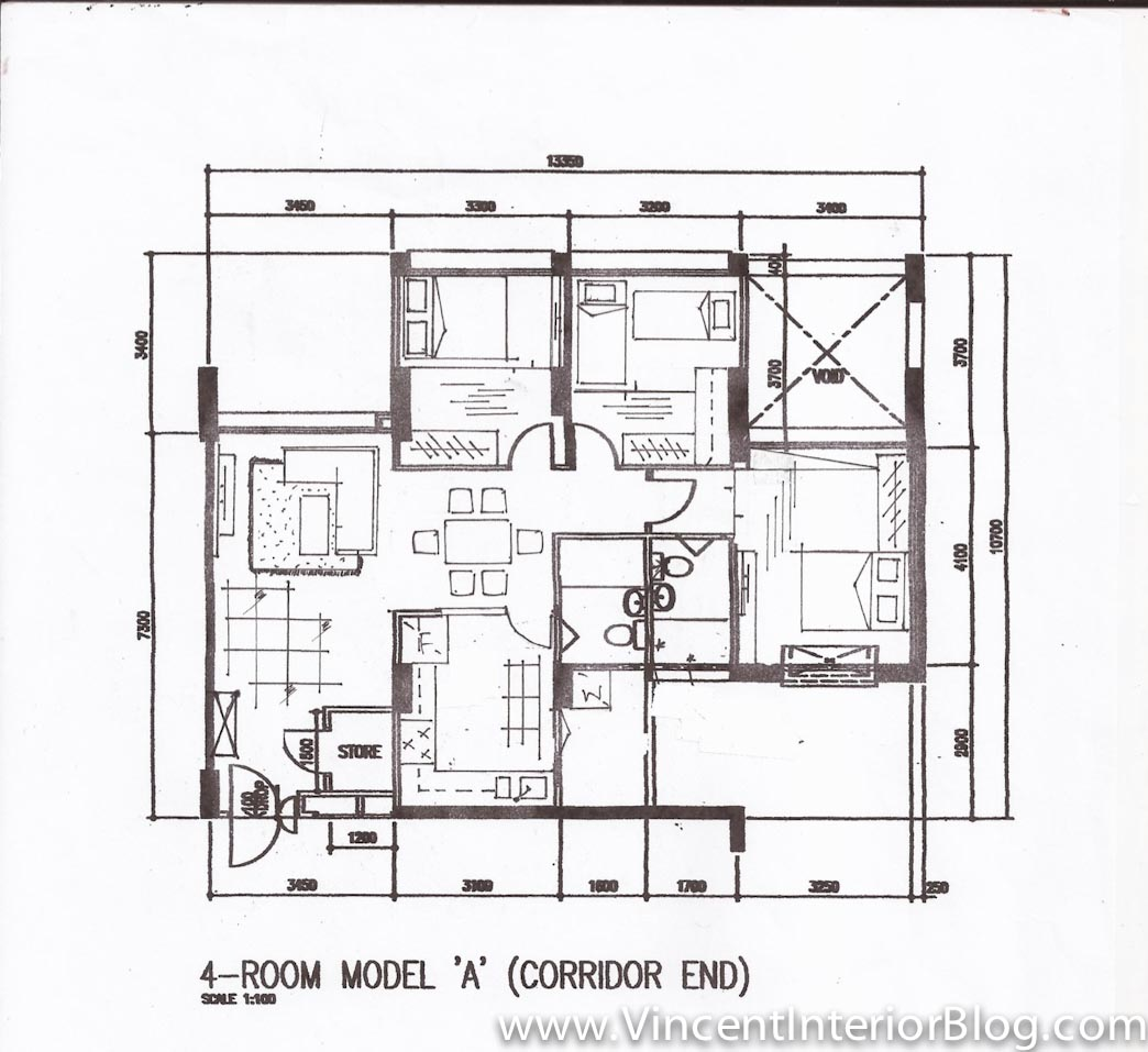 Woodland 4 Room Hdb Renovation By Behome Design Concept Quotation Perspectives Floor Plan on single floor house perspective