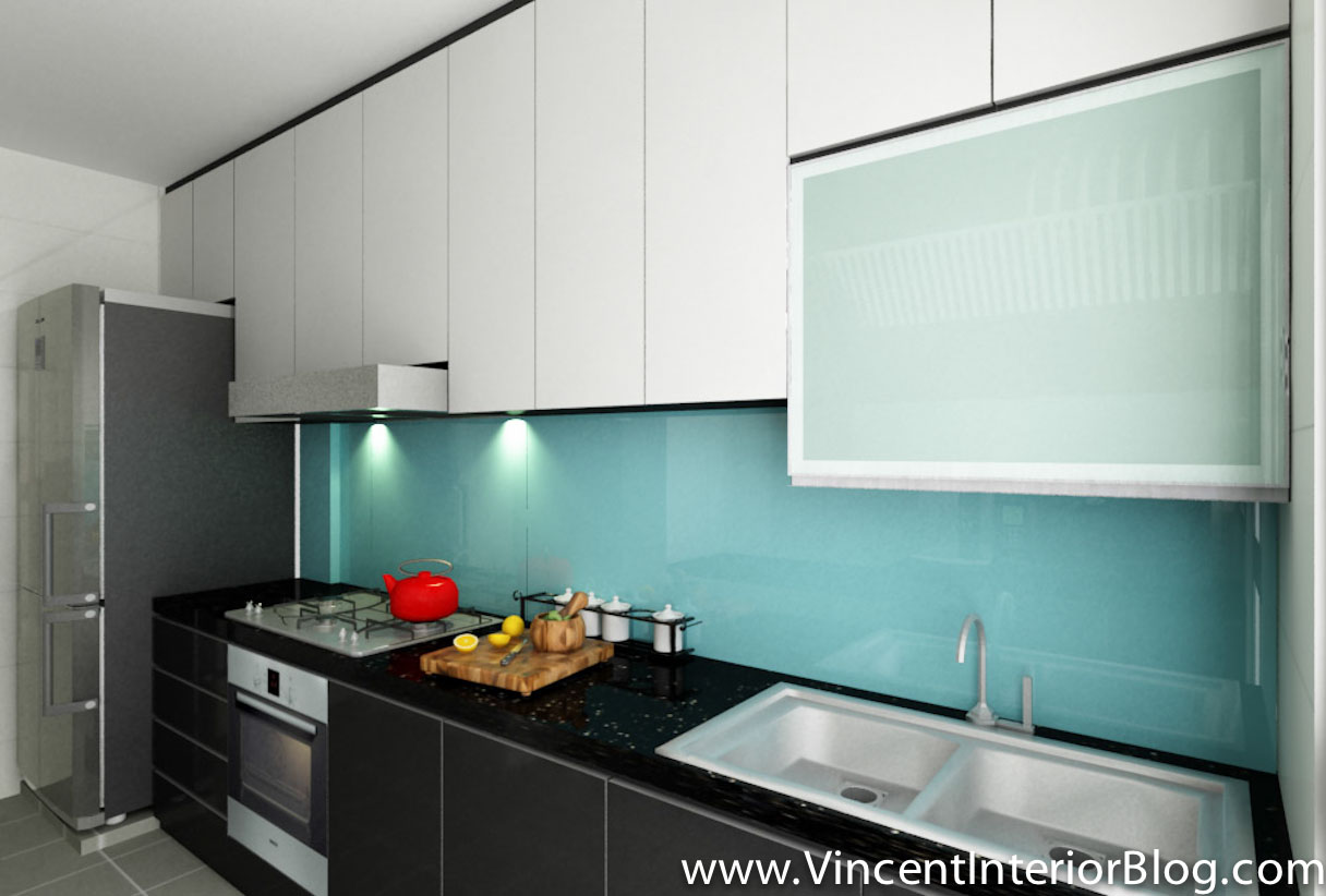 BEhome Design concept Buangkok 4 room HDB Kitchen 1. Buangkok Vale 4 room HDB renovation by BEhome Design Concept