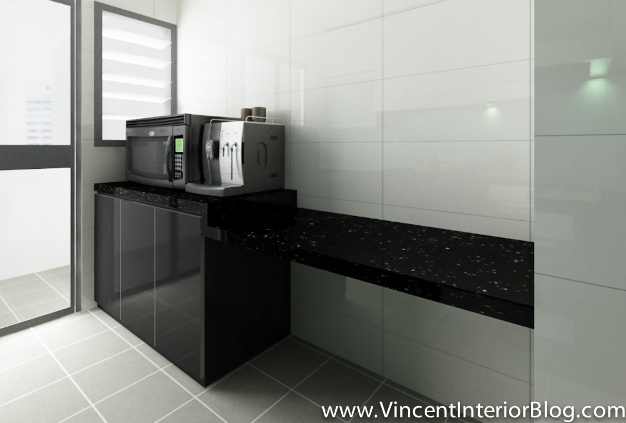 BEhome Design concept Buangkok 4 room HDB Kitchen 2. Buangkok Vale 4 room HDB renovation by BEhome Design Concept