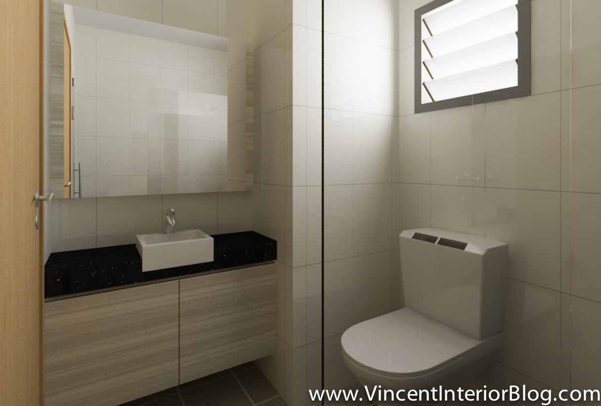 Buangkok vale 4 room hdb renovation by behome design for Small bathroom ideas hdb