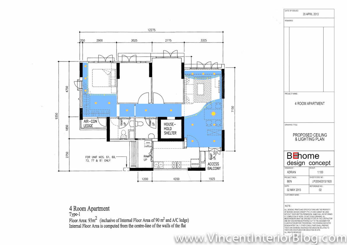 Buangkok Vale 4 room HDB renovation by BEhome Design Concept ...