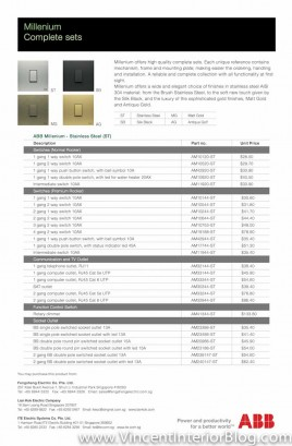 ABB millenium switches price list-1