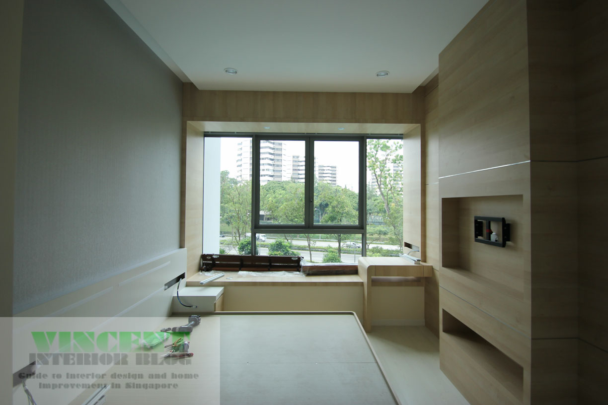 Hundred tree condominium renovation by spatial co Study table facing window