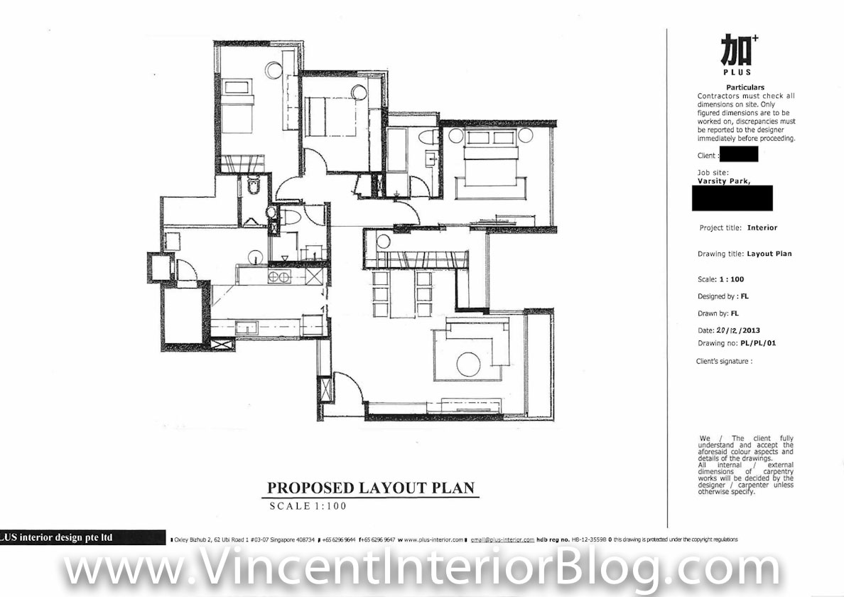 Park Condominium Renovation By Plus Interior Design Floor Plan